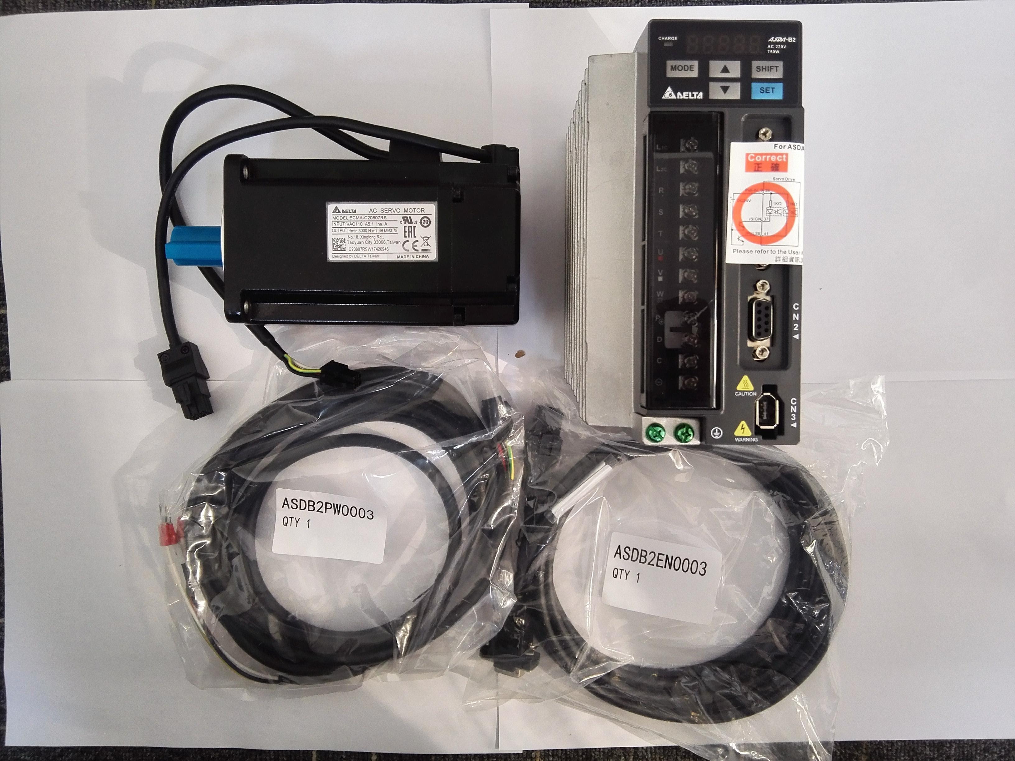 台达伺服控制器+马达+线